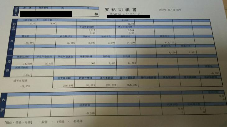 ジェイ・エス・ビーの給与明細【ガチ画像】・年収・ボーナス・評判