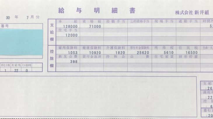 新井組の給料明細【ガチ画像】・年収・ボーナス・評判