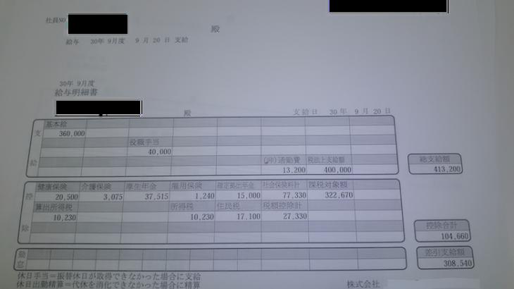 ソフトウェア・サービスの給与明細【ガチ画像】・年収・ボーナス・評判