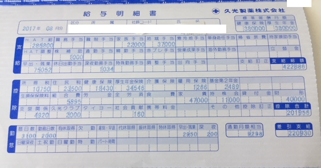 久光製薬の給与明細【ガチ画像】・年収・ボーナス・評判