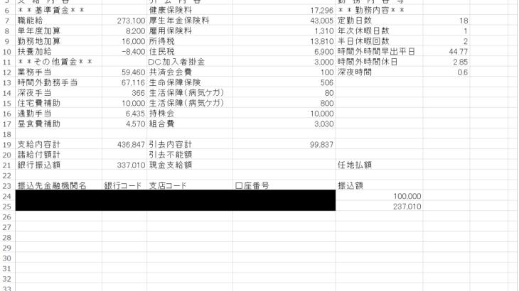 東芝の給料明細【ガチ画像】・年収・ボーナス・評判