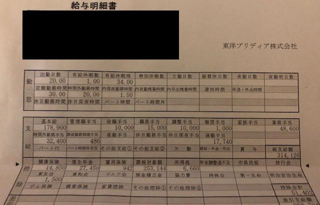 東洋プリディアの給料明細【ガチ画像】・年収・ボーナス・評判