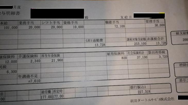 羽田タートルサービスの給料明細【ガチ画像】・年収・ボーナス・評判