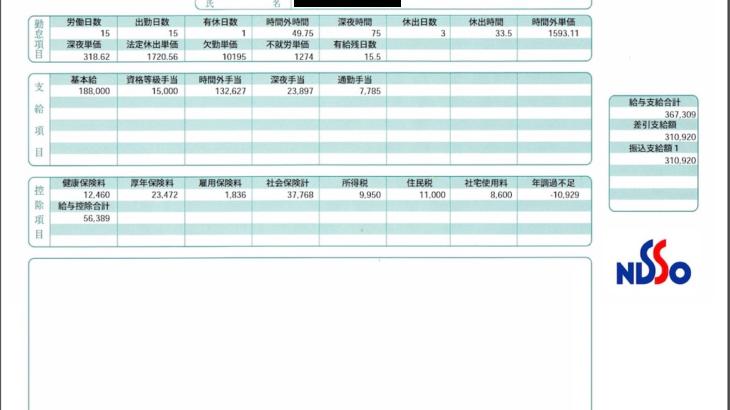 日総工産の給与明細【ガチ画像】・年収・ボーナス・評判