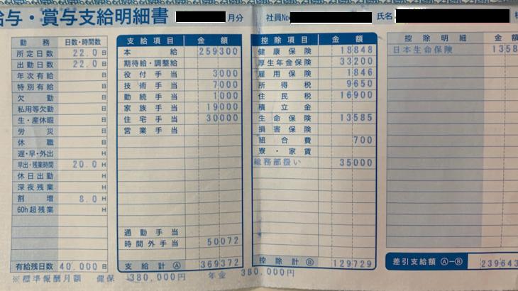 木内建設の給料明細【ガチ画像】・年収・ボーナス・評判