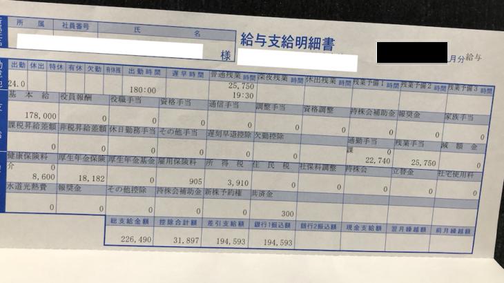 ファースト住建の給料明細【ガチ画像】・年収・ボーナス・評判