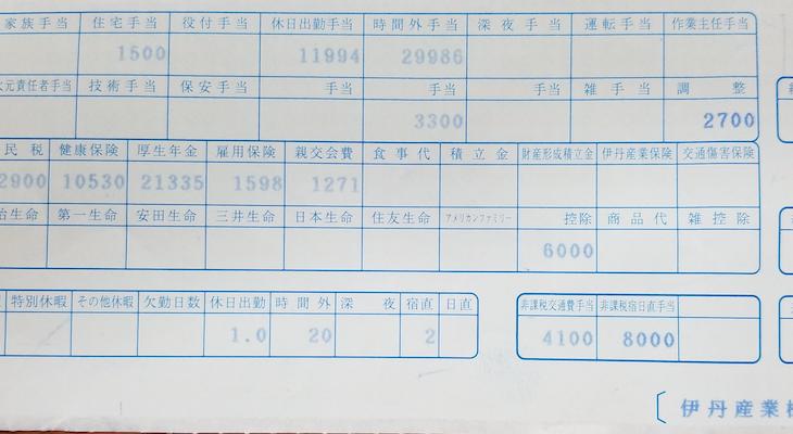 伊丹産業の給料明細【ガチ画像】・年収・ボーナス・評判