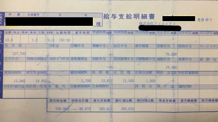 アイエイアイの給料明細【ガチ画像】・年収・ボーナス・評判