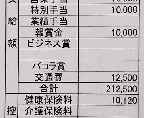 パコラの給与明細【ガチ画像】・年収・ボーナス・評判