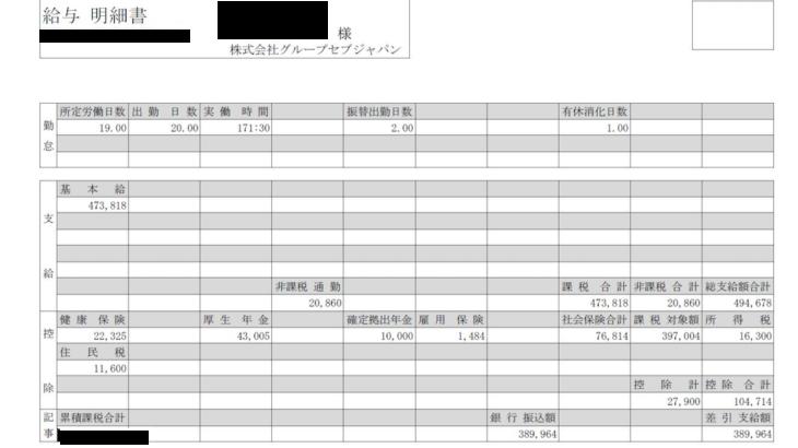 グループセブジャパンの給料明細【ガチ画像】・年収・ボーナス・評判