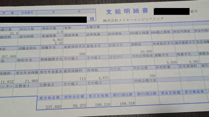 メイホーエンジニアリングの給料明細【ガチ画像】・年収・ボーナス・評判