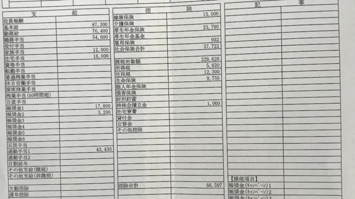 北沢産業の給料明細【ガチ画像】・年収・ボーナス・評判