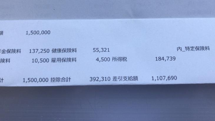 塩野義製薬のボーナス明細【ガチ画像】社員からの投稿