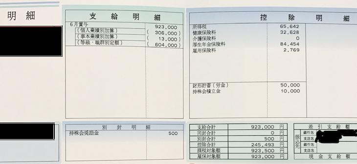 三菱電機のボーナス明細【ガチ画像】社員からの投稿